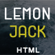 Lemon Jack | Responsive Portfolio / Resume HTML Template - ThemeForest Item for Sale