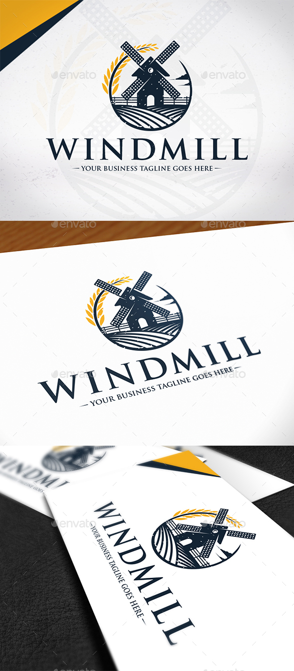 Wind Mill Logo Template - Buildings Logo Templates