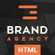 Brand Agency - One Page HTML Bootstrap Template for Agency, Startup, Corporate, Business.
