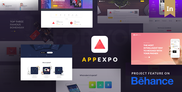 App Expo - An Interactive Theme for App Showcase - Technology WordPress