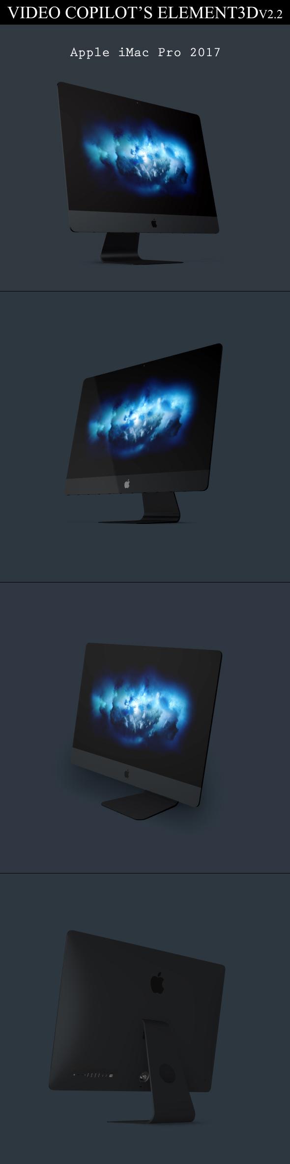 Element3D - iMac Pro 2017 - 3DOcean Item for Sale