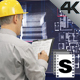 Architect Using Futuristic Screen - VideoHive Item for Sale