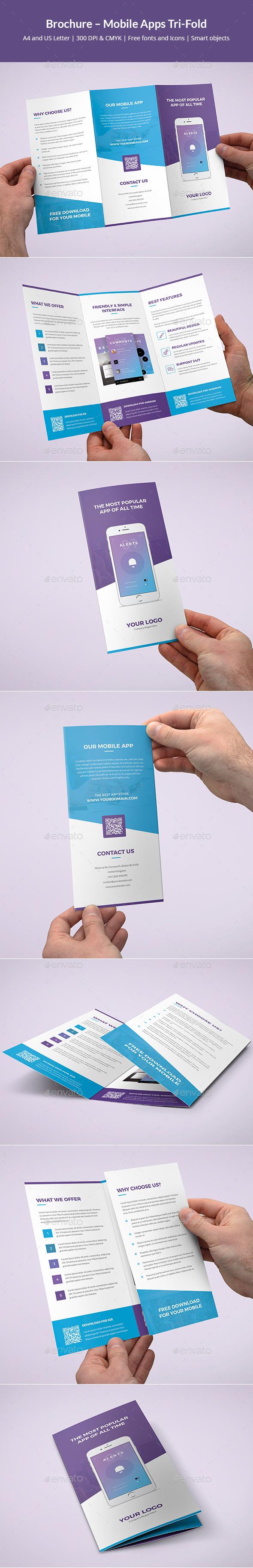 Brochure – Mobile Apps Tri-Fold - Informational Brochures