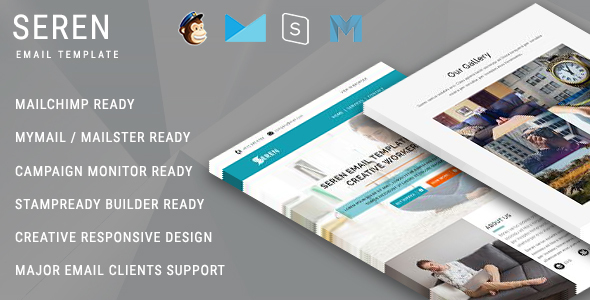 SEREN - Multipurpose Responsive Email Template With Online StampReady Builder Access - Newsletters Email Templates