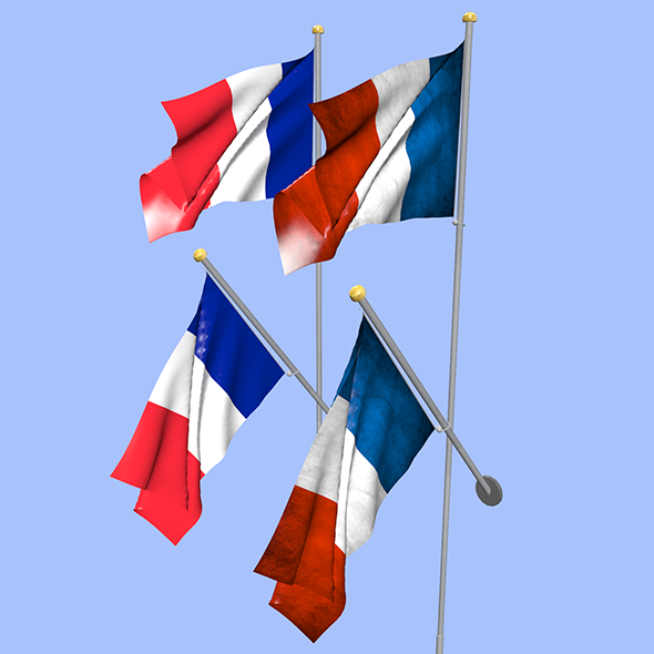 France Flag - 3DOcean Item for Sale