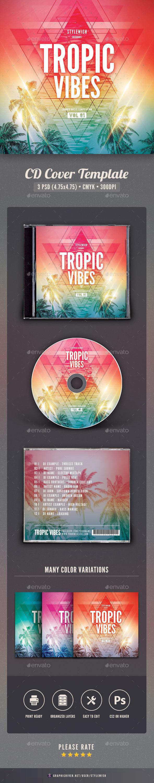 Tropic Vibes CD Cover Artwork - CD & DVD Artwork Print Templates