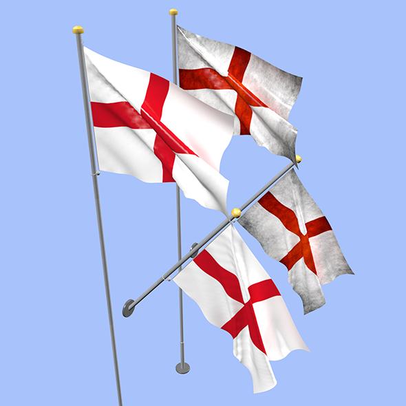 England Flag - 3DOcean Item for Sale