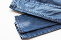 denim pants or jeans on white background