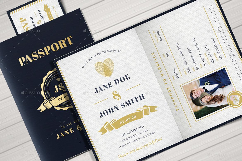 Passport Wedding Invitation by Vector_Vactory | GraphicRiver
