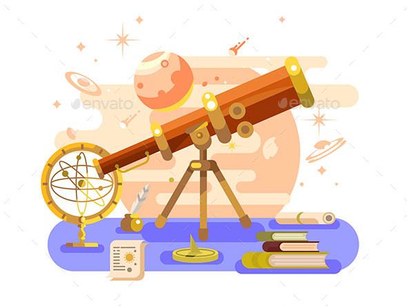 Astronomy Design Retro - Miscellaneous Vectors