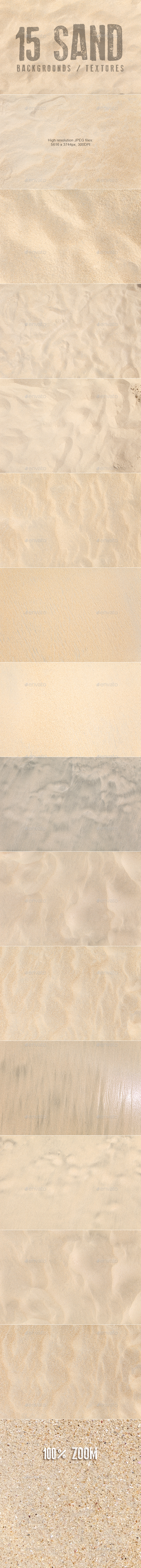 15 Sand Backgrounds / Textures - Nature Textures