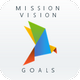 Mission, Vision, Goals | PowerPoint Template - GraphicRiver Item for Sale