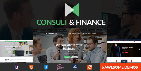 Finance & Consult - Business Consulting , Finance & Professional Services HTML Template - Business Corporate