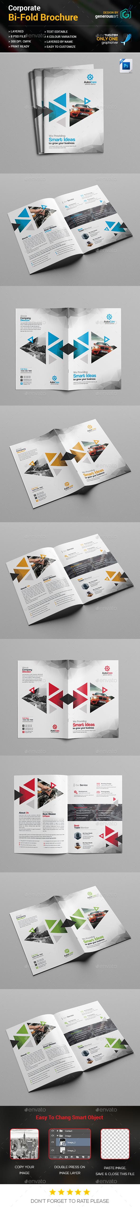 Car Servicing Bi-Fold - Brochures Print Templates