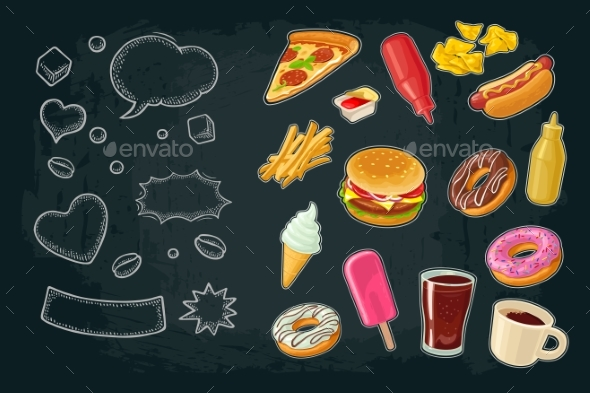 Poster of Fast Food - Food Objects