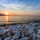 Sunset in Limenas harbour. - PhotoDune Item for Sale