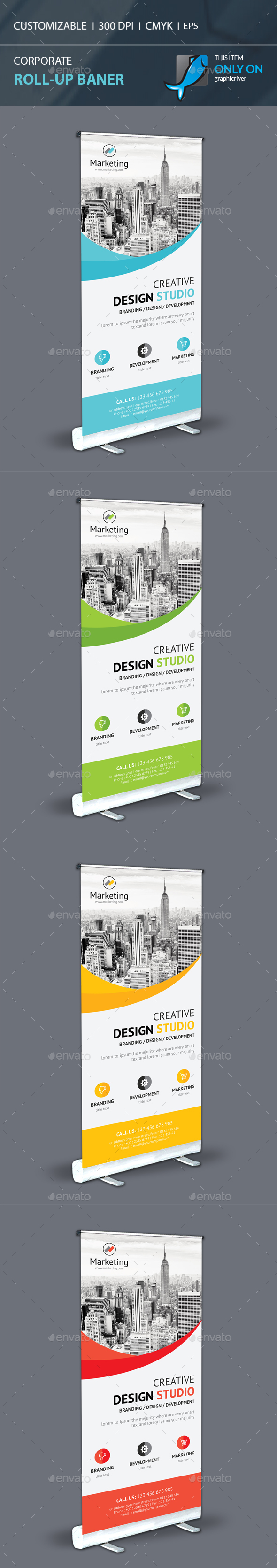 Corporate Roll-Up - Signage Print Templates