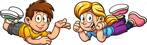 Cartoon Kids - People Characters