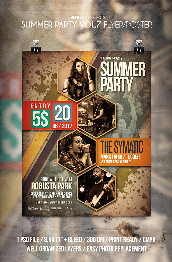 Summer Party Flyer / Poster Vol 7 - Events Flyers