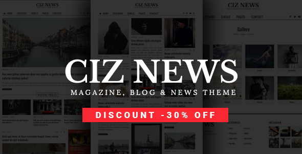 Ciz News - Magazine, Blog & News Theme