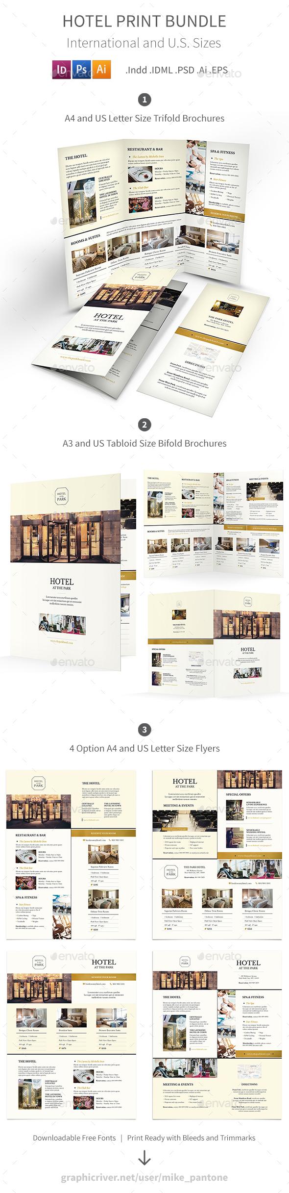 Hotel Print Bundle 6 - Informational Brochures