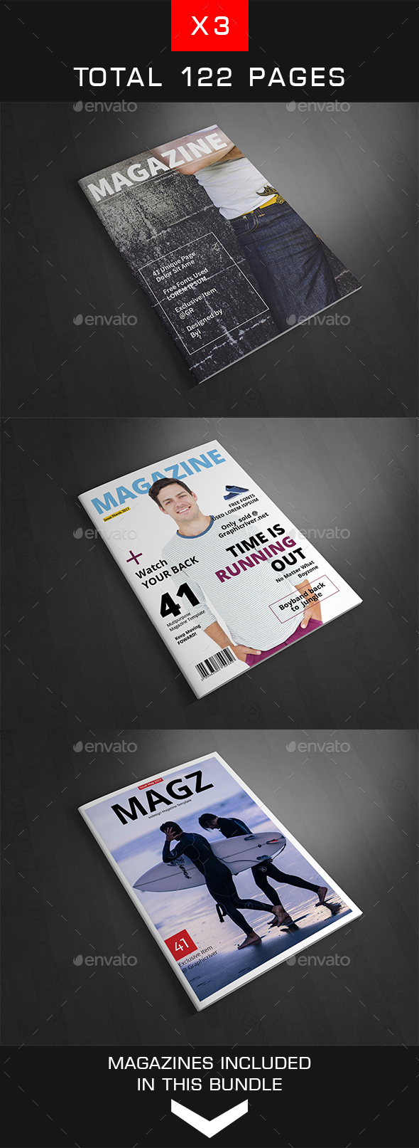 Magazine Bundle Vol.8 - Magazines Print Templates