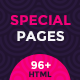 Coming Soon and 404 Special Pages Multipurpose Pack - ThemeForest Item for Sale