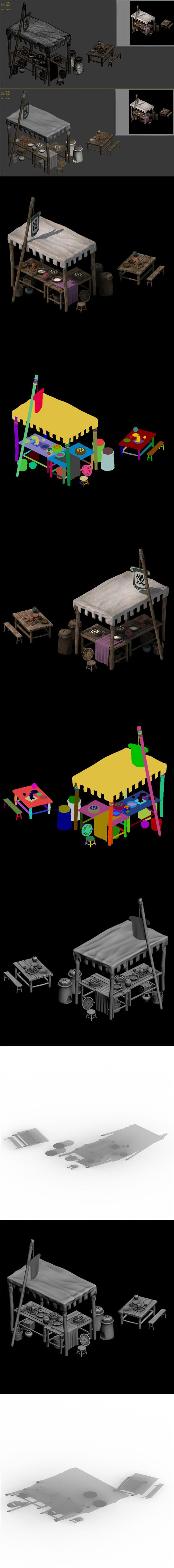 Small town shops - buns shop - 3DOcean Item for Sale