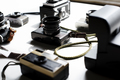 Aerial view of retro film camera collection - PhotoDune Item for Sale