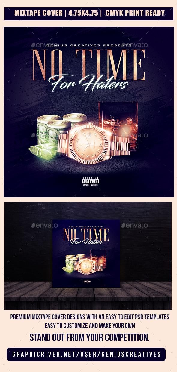 NO TIME 2 MIXTAPE COVER - CD & DVD Artwork Print Templates