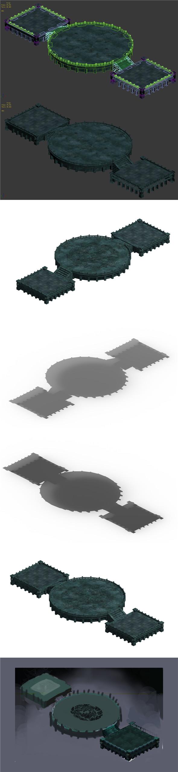 Battle of small platform 043 - 3DOcean Item for Sale
