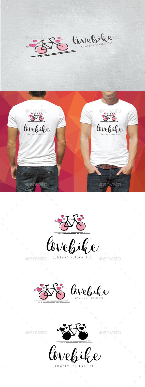Love Bike Logo - Objects Logo Templates