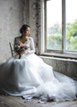 Asian Bride Holding Flower Bouquet Wedding Engagement Ceremony - PhotoDune Item for Sale