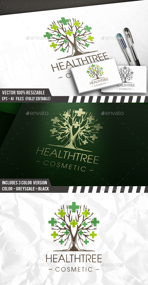 Healthy Tree Medic Logo - Nature Logo Templates