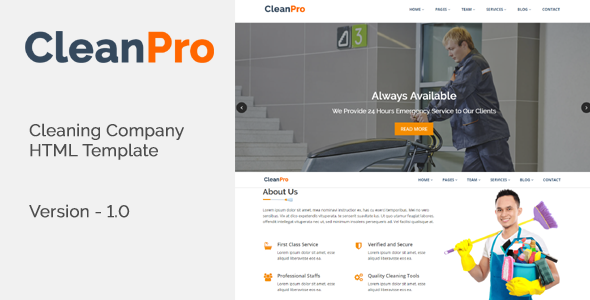 CleanPro - Cleaning Company HTML Template