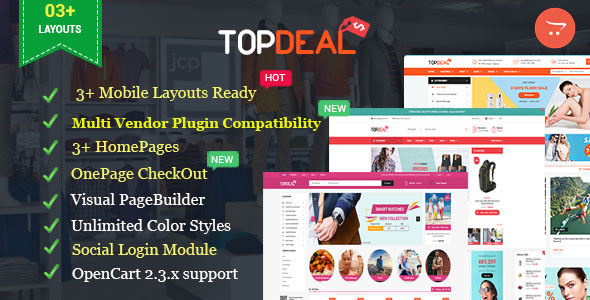 Topdeal - MarketPlace | Multi Vendor Responsive OpenCart Theme with Mobile-Specific Layouts