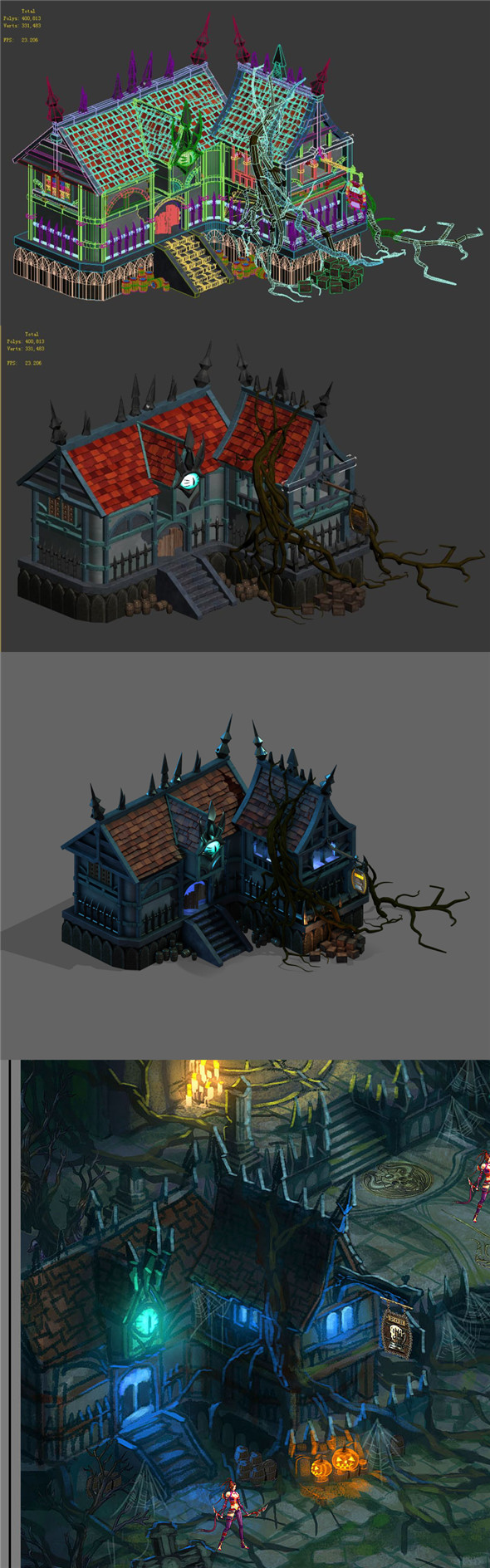 Dark forest - pub - 3DOcean Item for Sale
