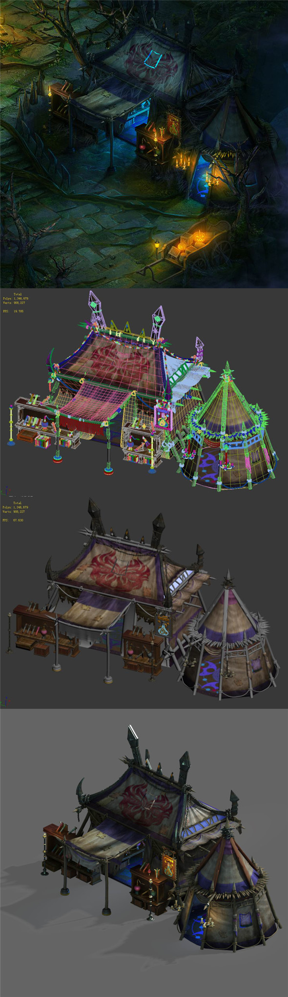 Dark forest - tent - 3DOcean Item for Sale