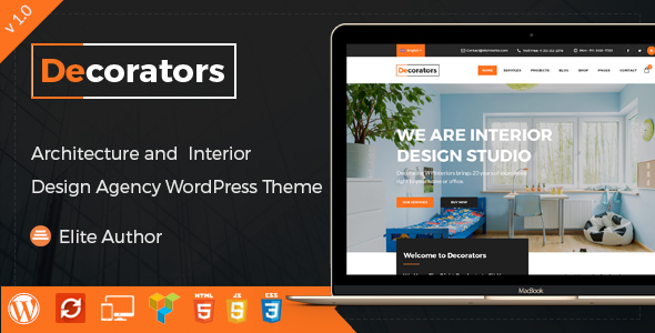 Decorators - WordPress Theme for Architecture & Modern Interior Design Studio