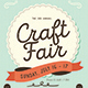 Craft Fair Event Flyer