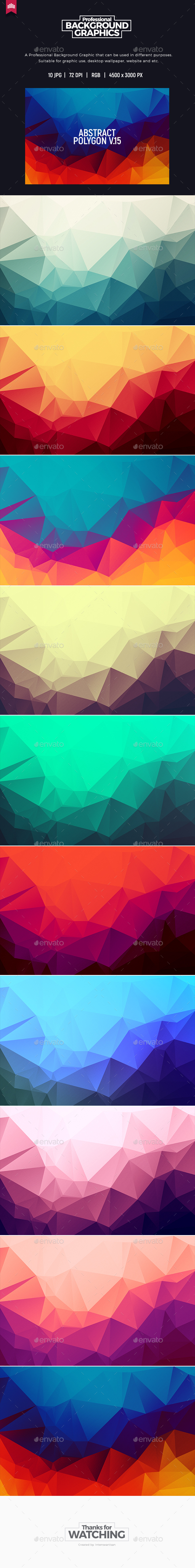 Abstract Polygon V.15 - Background - Abstract Backgrounds