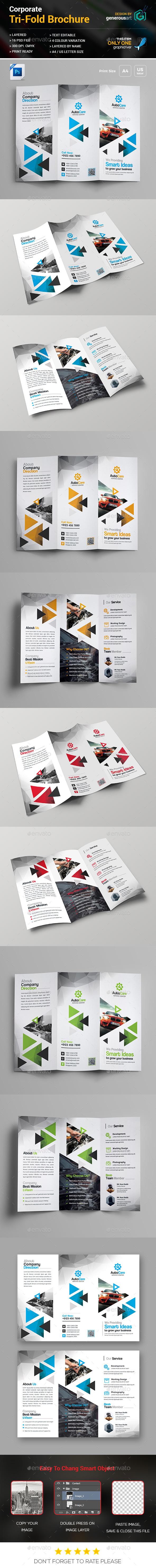 Car Service Tri-Fold Brochure - Brochures Print Templates