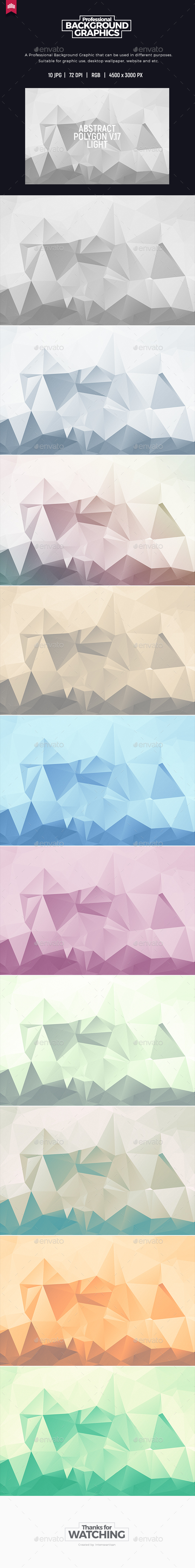 Light - Abstract Polygon V.17 - Background - Abstract Backgrounds