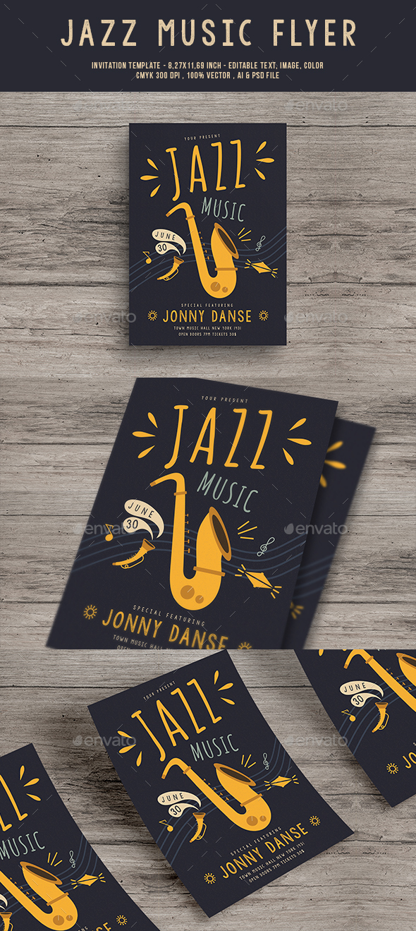 Jazz Music Flyer - Concerts Events