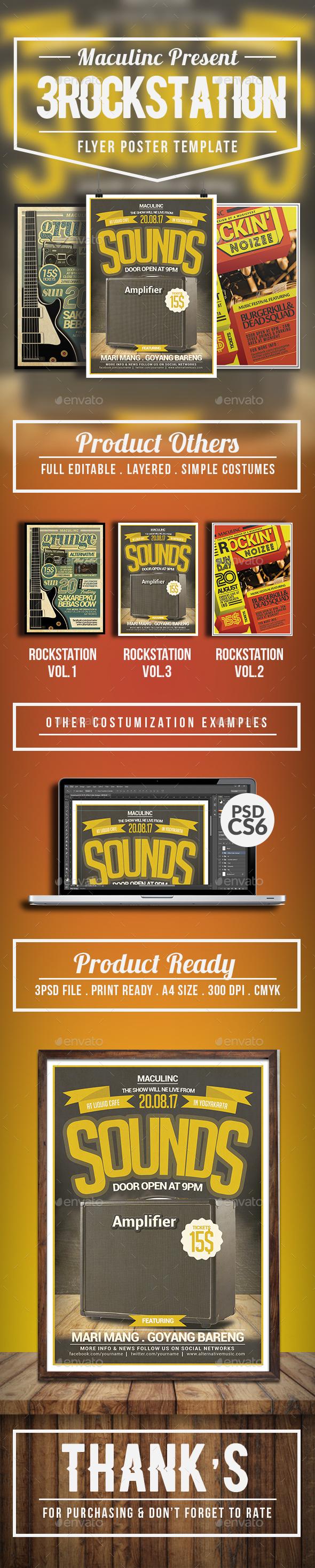 Rockstation Flyer/Poster Bundle Vol.1 - Concerts Events