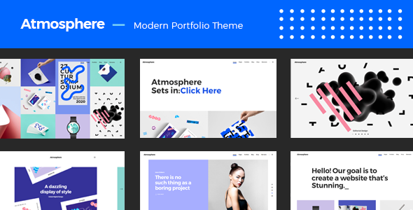 Atmosphere - A Bold, Fresh Portfolio Theme - Portfolio Creative