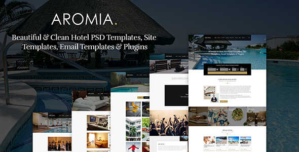 Aromia Hotel PSD Template