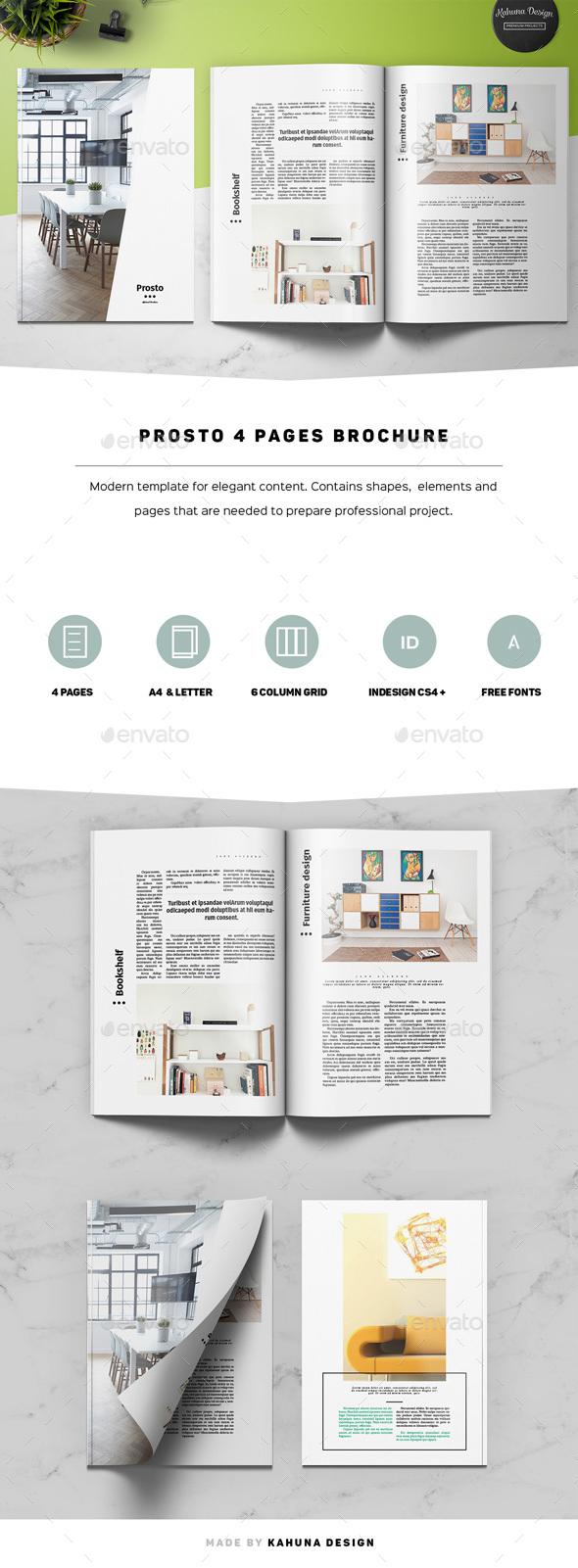 Prosto 4p Brochure - Informational Brochures