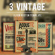 Vintage Flyer/Poster Bundle Vol.1 - GraphicRiver Item for Sale