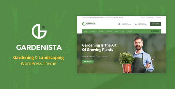 Gardenista - Gardening, Landscaping and Business WordPress Theme - Business Corporate